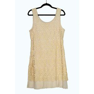 Cream Crochet lace Summer Dress